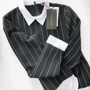 NWT Zara striped blouse (XS)